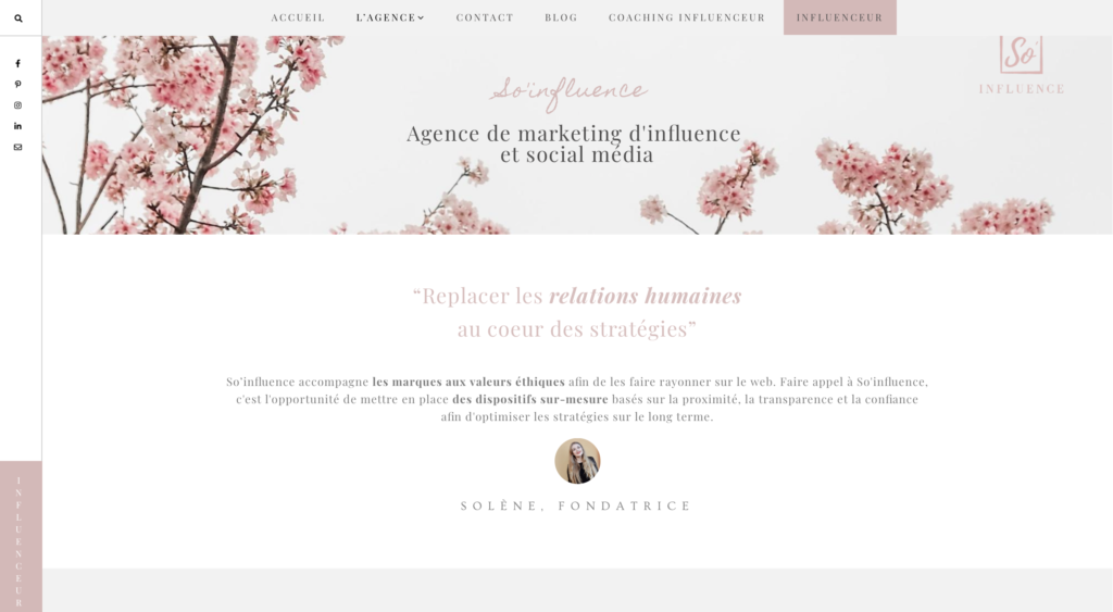 agence d'influence ethique So'influence